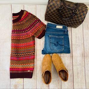 Tommy Hilfiger Sweater Short-Sleeve Fair-Isle M
